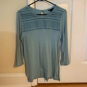 turquoise H&M blouse